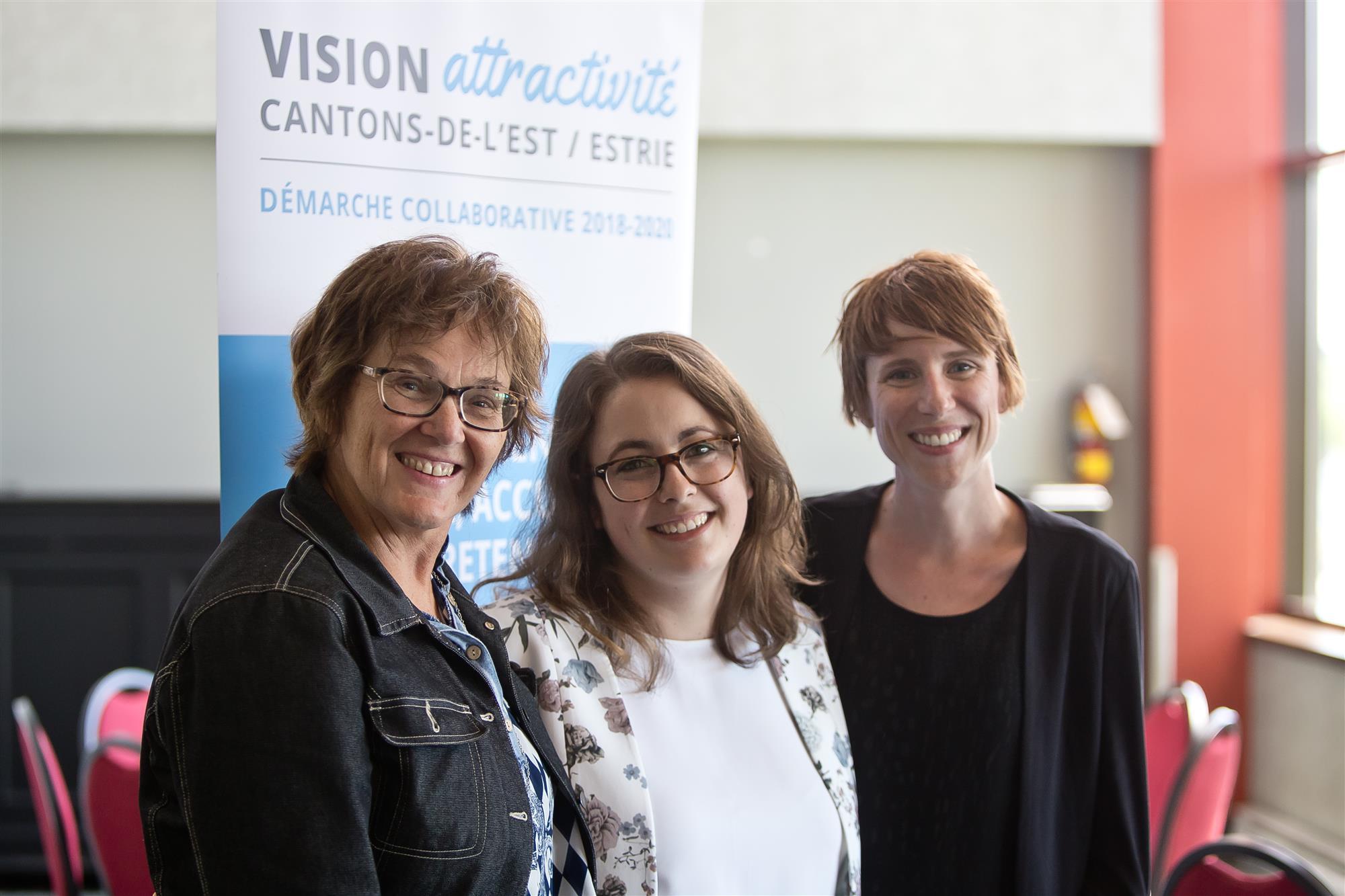 L'équipe de coordination : Francine Patenaude, Vanessa Cyr-Cournoyer et Annie-Claude Dépelteau